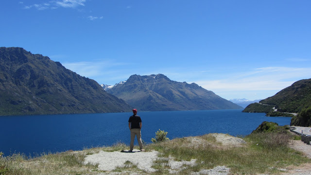 Stunning scenery on the drive from Te Anau to Queenstown.