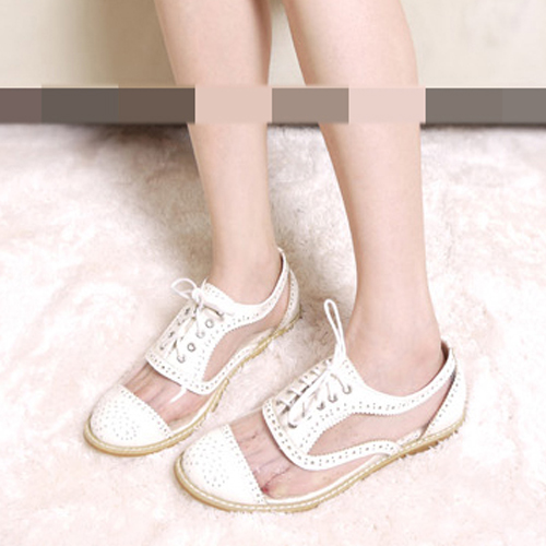 See-Through-PVC-Lace-Up-Flats-Loafers-Shoes-Oxfords-1jU
