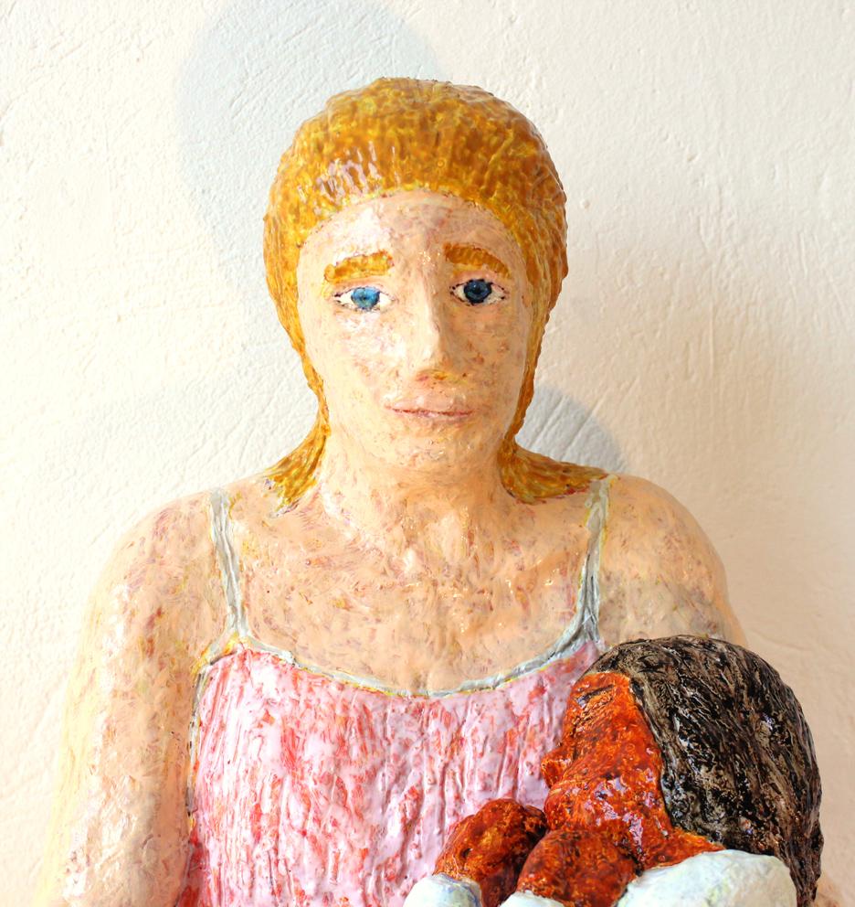 mare de déu amb el nen dormint (sculpture by frank waaldijk, detail front)