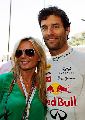 Джерри Холливел и Марк Уэббер перед гонкой Гран-при Монако 2011