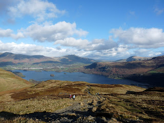 On the path to Maiden Moor ... a view of Derwentwater