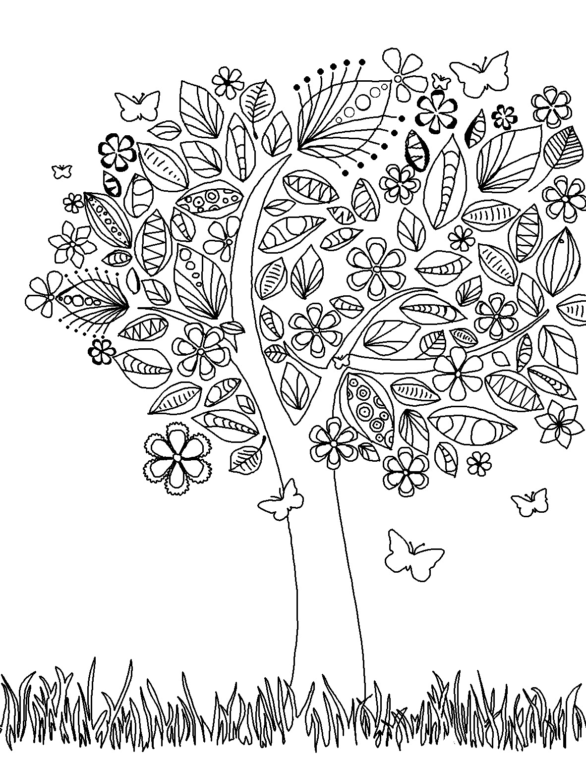 design coloring pages for adults - Free Printable Coloring Page Bookmarks Dawn Nicole