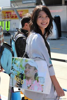 самая большая болельщица Нико Росберга на Гран-при Японии 2011