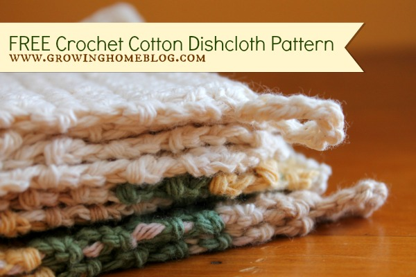FREE Crochet Cotton Dish & Spa Cloth Pattern