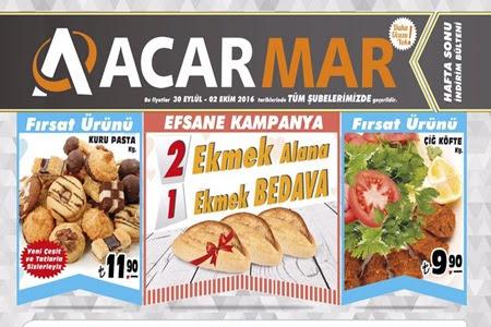 Acarmar Market 30 Eylül –2-Ekim 2016 Hafta Sonu İndirimleri