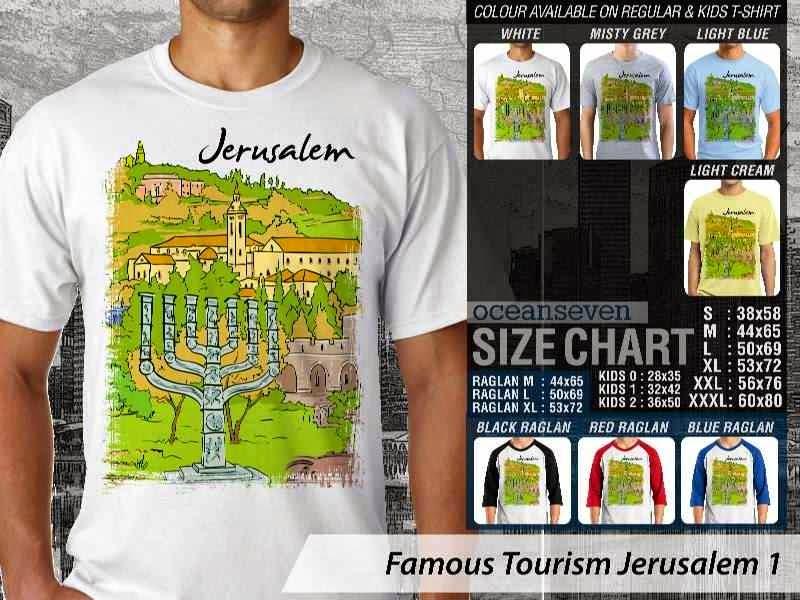 Kaos Wisata Jerusalem 1 Yerusalem distro ocean seven