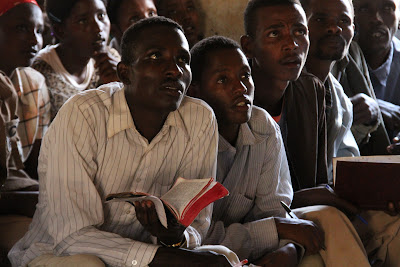 Guji-oromo men in church