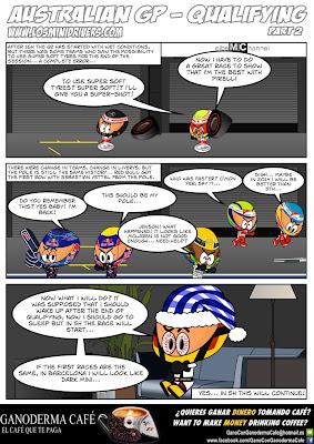 комикс MiniDrivers по квалификации в воскресенье на Гран-при Австралии 2013