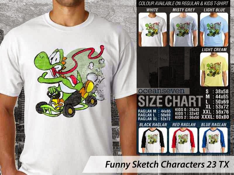 Kaos Kartun Lucu Funny Sketch Characters 23 kartun distro ocean seven
