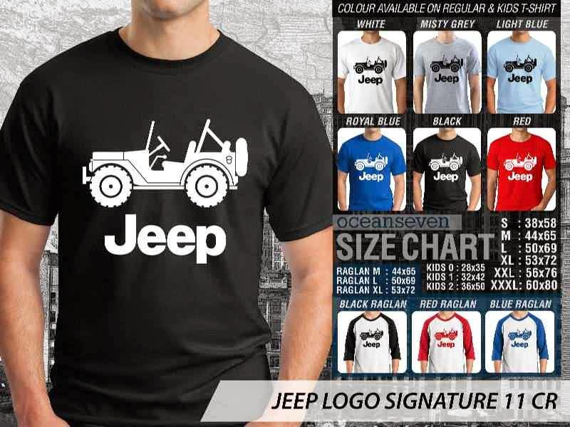 jual kaos jeep Logo Signature 11 distro