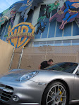our office for the day....Al drools over Ellen's Porshe