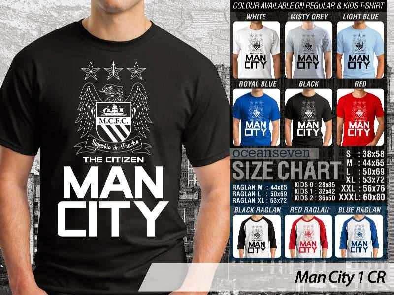 KAOS Man City Manchester City 1 Liga Premier Inggris distro ocean seven