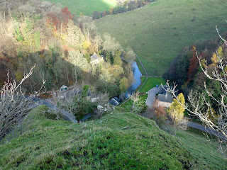 The River Dove far below