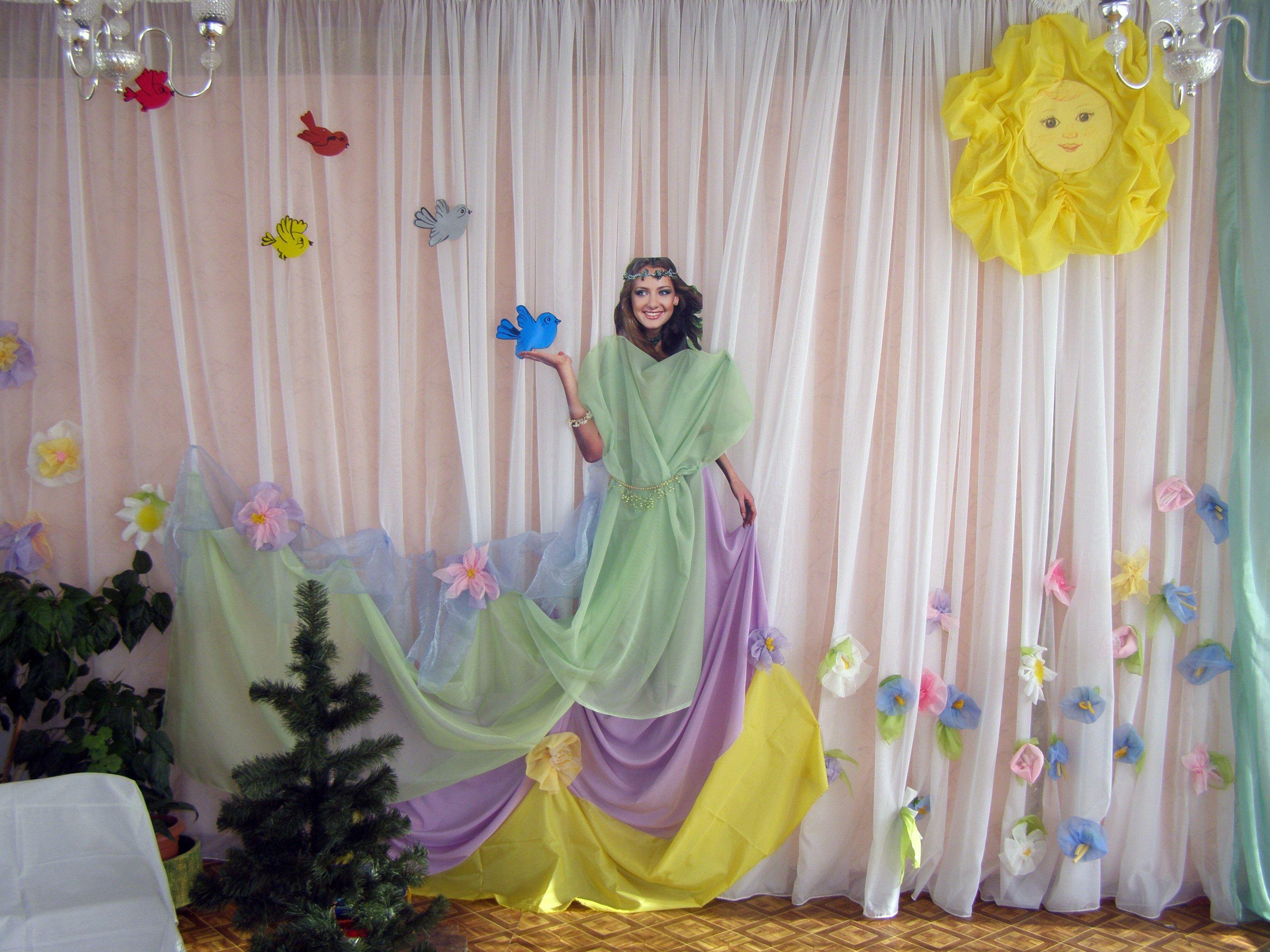 Как украсить зал на 8 марта в школе своими руками фото
