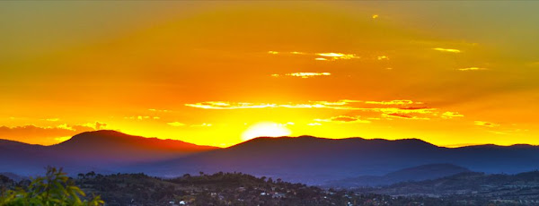 sunset over the brindabellas