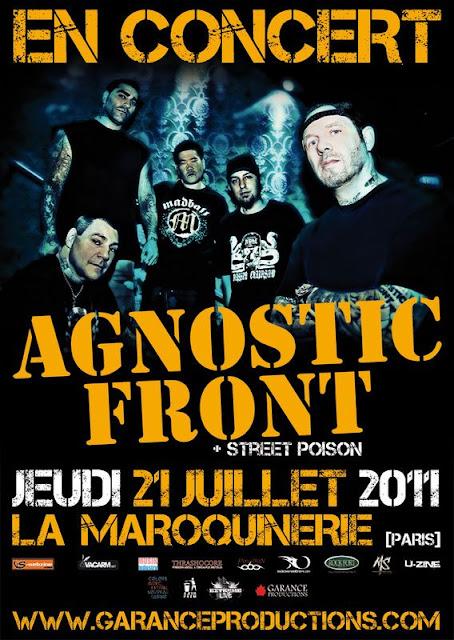 Agnostic Front / Trotskids / Street Poison @ La Maroquinerie, Paris 21/07/2011