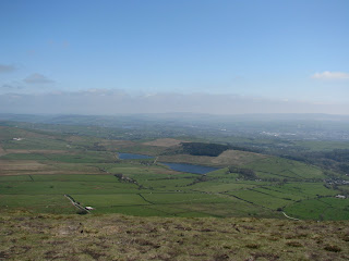 Black Moss Reservoirs from Pendle Hill