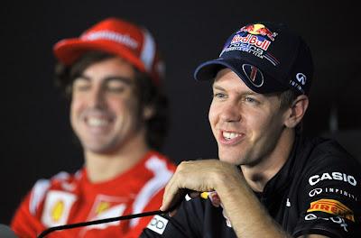Себастьян Феттель доводит Фернандо Алонсо до слез на пресс-конференции Йонама в четверг на Гран-при Кореи 2011