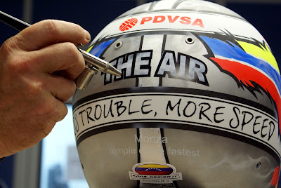 шлем Пастора Мальдонадо для Гран-при Италии 2012