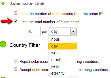 How To Limit Total Number Of Submissions 123contactform