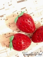 Sugarpaste Strawberries and sheet music