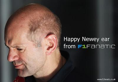 новогодняя открытка с Эдрианом Ньюи от F1 Fanatic