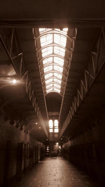 Inside the Old Melbourne Gaol.