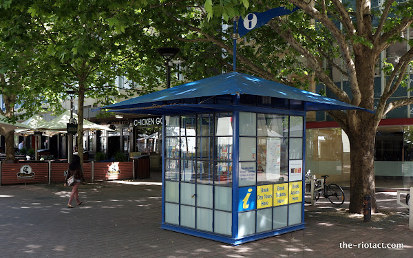 city walk information booth