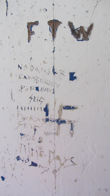 A small selection of gang-related graffiti.