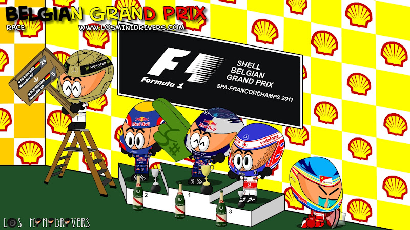 подиум Гран-при Бельгии 2011 от Los MiniDrivers