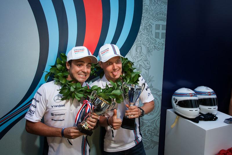 Вальтери Боттас и Фелипе Масса - пилоты команды Williams Martini Racing на Гран-при Италии 2014
