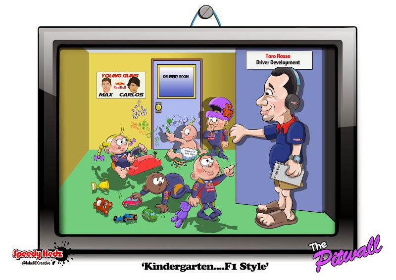 детский сад в стиле Формулы-1 - комикс SpeedyHedz 2015