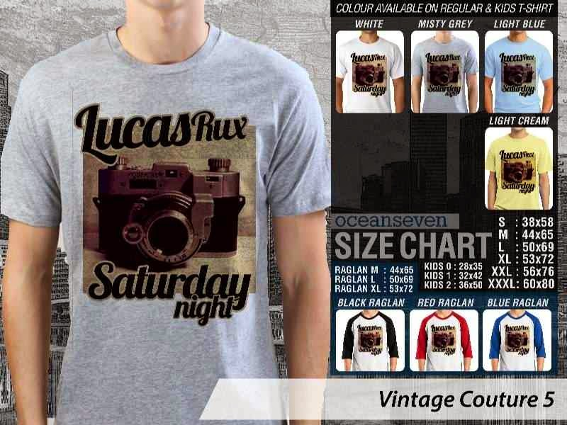 KAOS Lucas Rux Saturday Night camera kamera Vintage Couture 5 distro ocean seven
