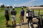 the next day I go golfing with some of the guys.  The stranger in the LSU shirt was solo so he joined our threesome