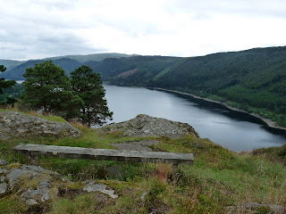 A bench at the summit of Great How. The view was great considering a couple of trees were in the way to see much further down the length of Thirlmere.