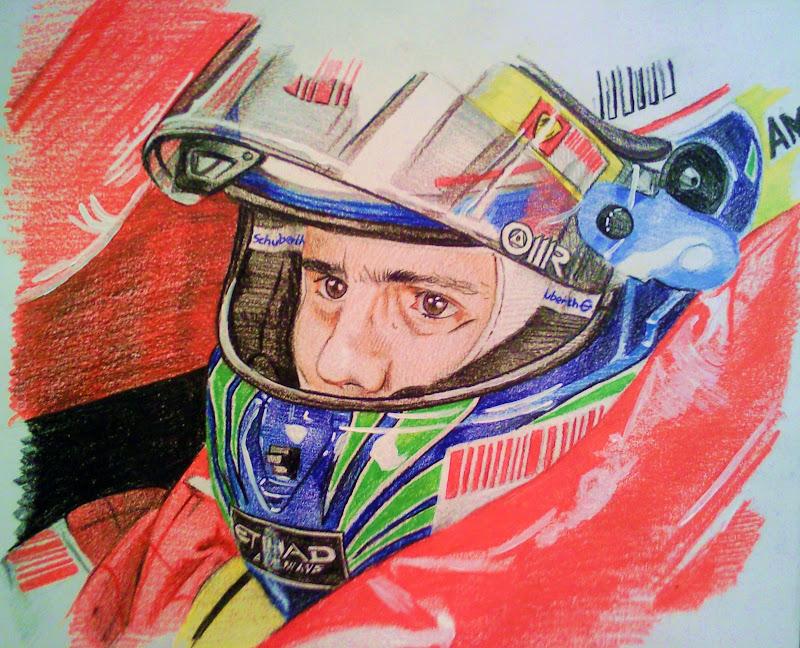 рисунок Фелипе Масса Ferrari от phantomphreaq