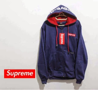 jaket Supreme Red in Navy