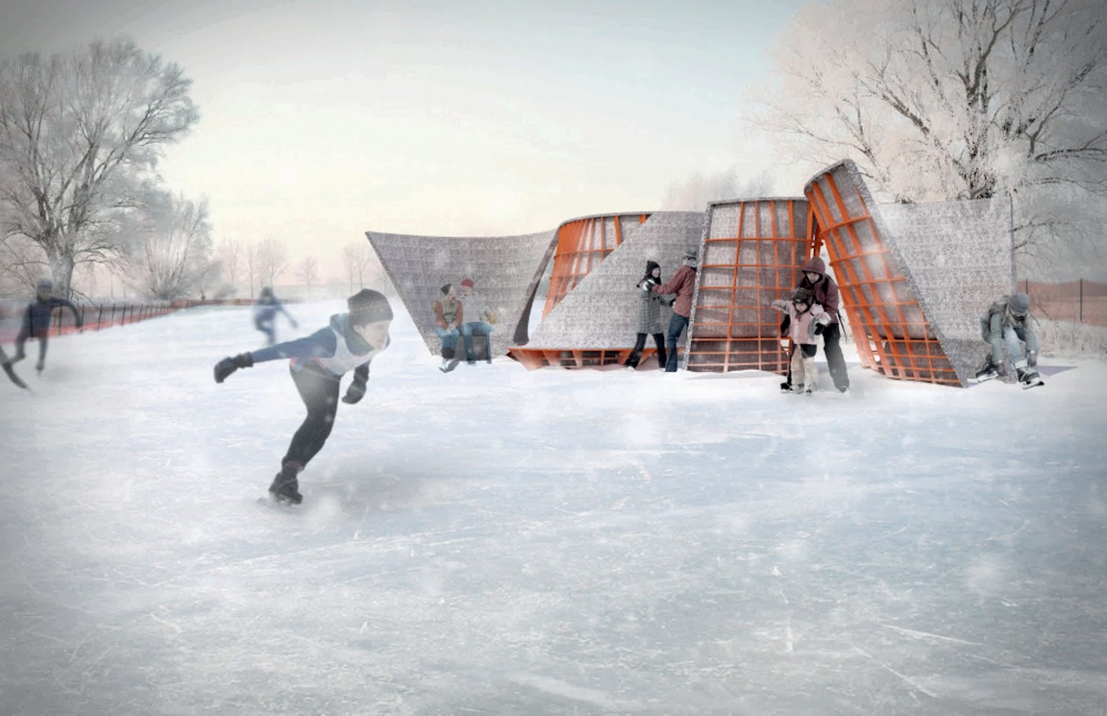 Klaksvík, Isole Faroe: [SKATING TRAIL PAVILION BY LATERAL OFFICE]
