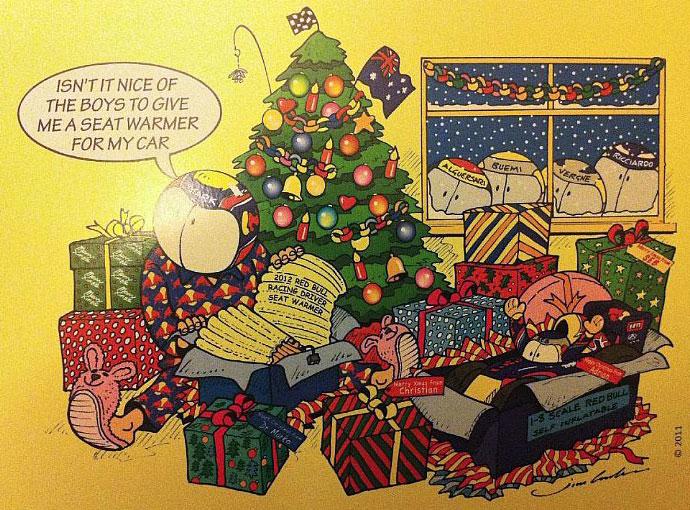 комикс Jim Bamber о рождестве Марка Уэббера