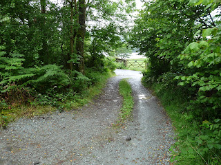 An unsigned entrance to the NT Car Park of the road on the Eastern side of Coniston Water. Wainwright mentions this is a carpark 'difficult to find'.