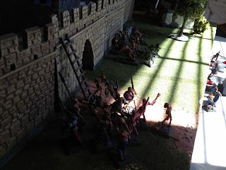 Vampire forces assaulting the west wall