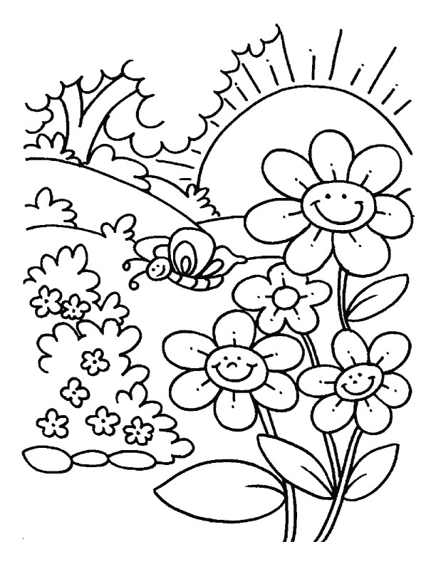 Free Printable Coloring Pages of Flowers Buzzle