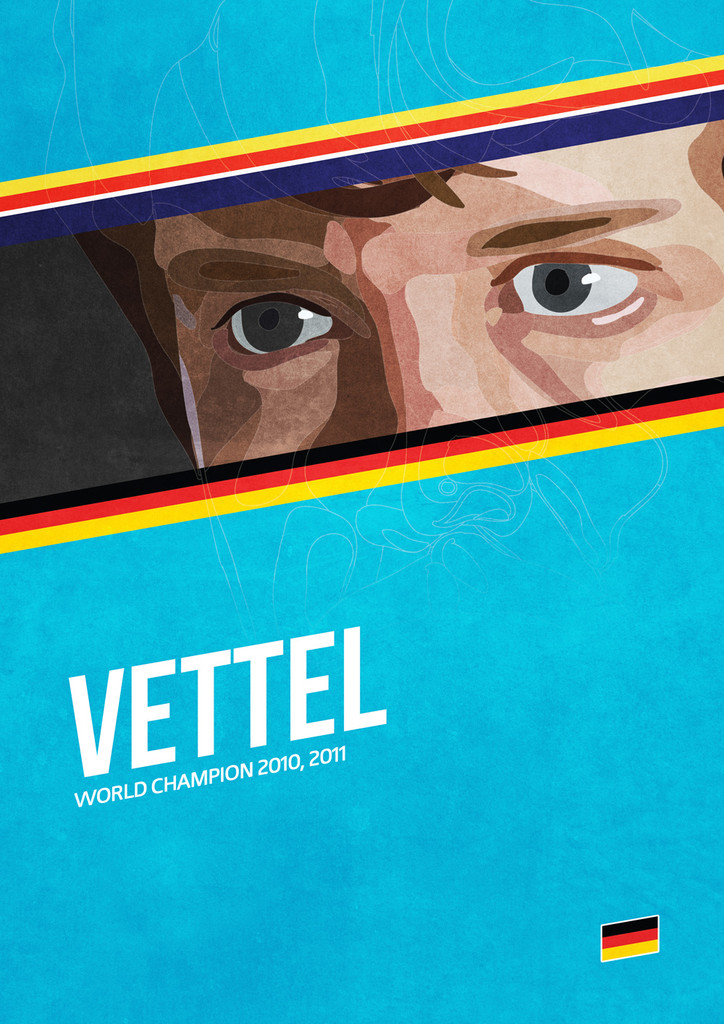 Себастьян Феттель - постер Grand Prix Champions by Mr Shabba