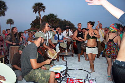 Siesta Key drum cirle - only in clearwater beach resorts images