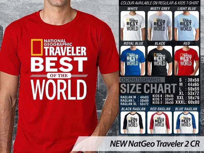 Kaos National Geographic NEW Nat Geo Traveler 2 distro ocean seven