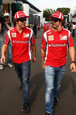 фотошоп Фернандо Алонсо и его близнец на Гран-при Италии 2011