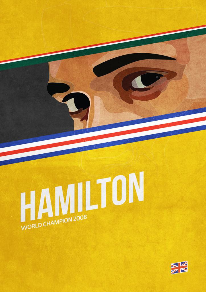 Льюис Хэмилтон - постер Grand Prix Champions by Mr Shabba