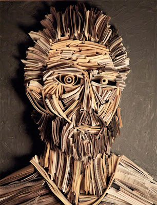 Newspaper Sculptures Seen On www.coolpicturegallery.us