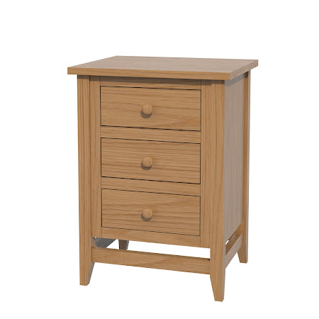 Venice Nightstand with Drawers, Natural Oak