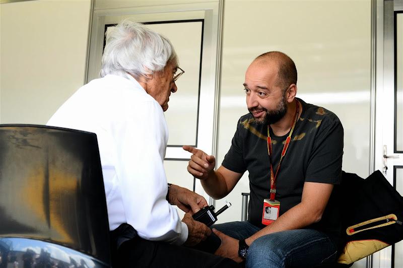 Берни Экклстоун и Жерар Лопес на Гран-при Бразилии 2014